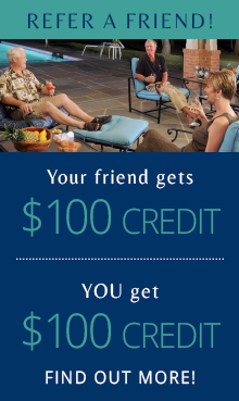 Refer a Friend! Your friend gets $100 credit, you get $100 credit. Find out more!